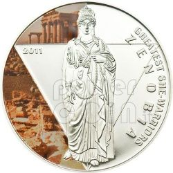 ZENOBIA Palmyra Queen Greatest She-Warriors Silver Coin 500 Francs Togo 2011