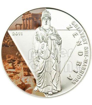 ZENOBIA Regina Palmira Grandi Guerriere Moneta Argento 500 Franchi Togo 2011