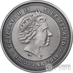 LIBRA Весы Zodiac Signs 1 Oz Монета Серебро 1$ Ниуэ 2019