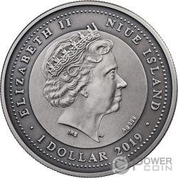LIBRA Zodiac Signs 1 Oz Silver Coin 1$ Niue 2019