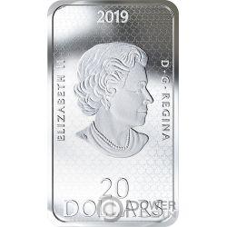 SHAG HARBOUR INCIDENT Unexplained Phenomena Спящая Красавица 1 Oz Монета Серебро 20$ Канада 2019