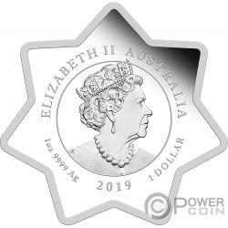 CHRISTMAS Рождество Олень 1 Oz Монета Серебро 1$ Тувалу 2019