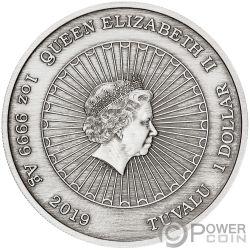LAUGHING BUDDHA Sonriendo Jade 1 Oz Moneda Plata 1$ Tuvalu 2019