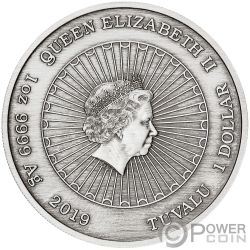 LAUGHING BUDDHA Улыбающийся Будда 1 Oz Монета  Серебро 1$ Тувалу 2019