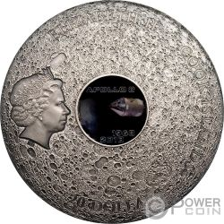 APOLLO 8 Luna Asteroide Meteorites 3 Oz Moneda Plata 20$ Cook Islands 2018