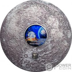 APOLLO 11 Luna Meteorites 3 Oz Moneta Argento 20$ Cook Islands 2019