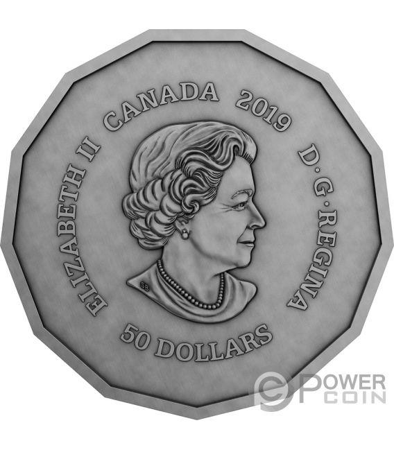 CENTENNIAL FLAME Parliament Hill 3 Oz Silver Coin 50$ Canada 2019