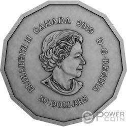 CENTENNIAL FLAME Parliament Hill 3 Oz Moneda Plata 50$ Canada 2019