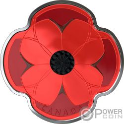REMEMBRANCE DAY Poppy 1/2 Silver Coin 10$ Canada 2019