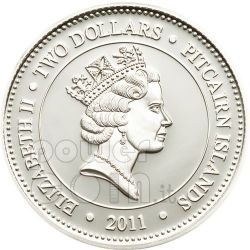 MELANOSTOMIAS BISERIATUS Deep Sea Fish Moneda Plata 2$ Pitcairn Islands 2011