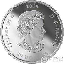 LEST WE FORGET Murano Amapola 1 Oz Moneda Plata 20$ Canada 2019