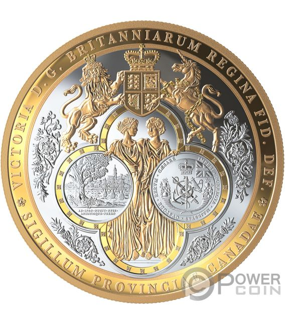 GREAT SEAL OF PROVINCE 10 Oz Silver Coin 100$ Canada 2019