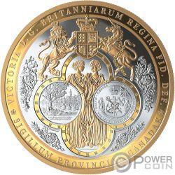 GREAT SEAL OF PROVINCE Sello 10 Oz Moneda Plata 100$ Canada 2019