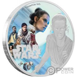 REY Resistance Rise of Skywalker Star Wars 1 Oz Moneda Plata 2$ Niue 2019