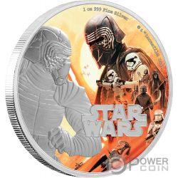 KYLO REN First Order Rise of Skywalker Star Wars 1 Oz Moneta Argento 2$ Niue 2019