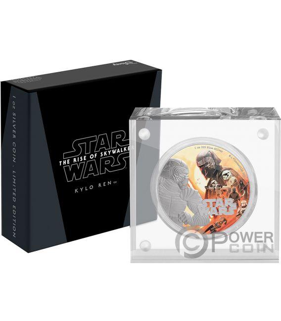 KYLO REN First Order Rise of Skywalker Star Wars 1 Oz Silver Coin 2$ Niue 2019