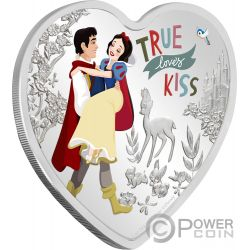 LOVE Herzförmig Schneeweiß Disney 1 Oz Silber Münze 2$ Niue 2020