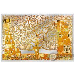 TREE OF LIFE Gustav Hope Klimt Foil Silver Note 5$ Cook Islands 2019