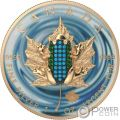 BEJEWELED FROG Rana Ovni Hoja Arce Maple Leaf 1 Oz Moneda Plata 5$ Canada 2019
