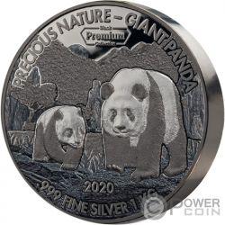 GIANT PANDA Precious Nature Palladium Rhodium 1 Kg Moneda Plata 10000 Francos Benin 2020