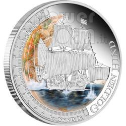 GOLDEN HIND Ships That Changed The World Silver Coin 1$ Tuvalu 2011