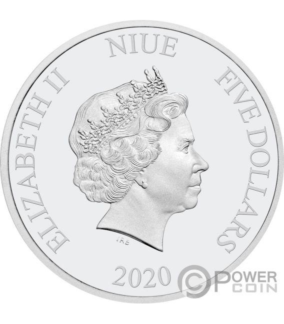 RAVEN Spooky Stories 175th Anniversary Edgar Allan Poe 2 Oz Silver Coin 5$ Niue 2020