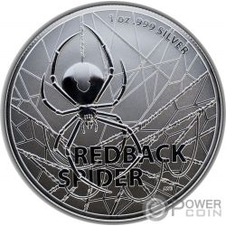 REDBACK SPIDER Паук 1 Oz Монета Серебро 1$ Австралия 2020
