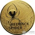 REDBACK SPIDER Spinne 1 Oz Gold Münze 100$ Australia 2020