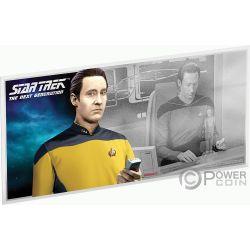 DATA Star Trek Next Generation Characters Foil Silver Note 1$ Niue 2019