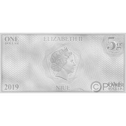 DATA Star Trek Next Generation Characters Банкнота Серебро 1$ Ниуэ 2019