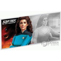 DEANNA TROI Star Trek Next Generation Characters Foile Silber Note 1$ Niue 2019