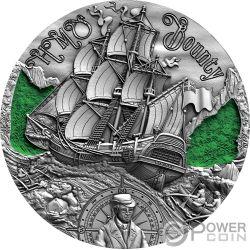 HMS BOUNTY Golden Age of Sail Navio 2 Oz Moneda Plata 2$ Cameroon 2019