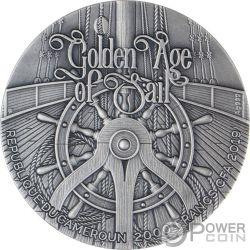 HMS BOUNTY Golden Age of Sail Снег 2 Oz Монета Серебро 2$ Cameroon 2019