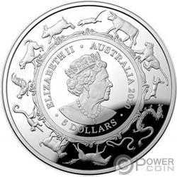 RAT Ratte Lunar Year 1 Oz Silber Münze 5$ Australia 2020