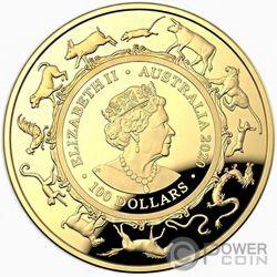 RAT Topo Lunar Year 1 Oz Монета Золото 100$ Австрлия 2020