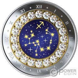 SAGITTARIUS Знак Зодиака Swarovski Кристалл Серебро Монета 5$ Канада 2019