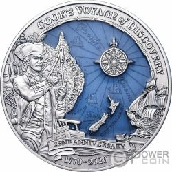 JAMES COOK DISCOVERY 250th Anniversary 3 Oz Silver Coin 10$ Solomon Islands 2020