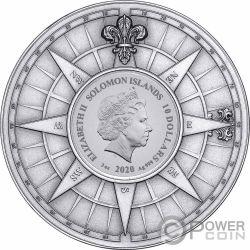 JAMES COOK DISCOVERY 250 Aniversario 3 Oz Moneda Plata 10$ Solomon Islands 2020