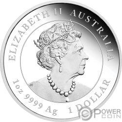 MOUSE Topo Gilded Lunar Year Series III 1 Oz Moneta Argento 1$ Australia 2020