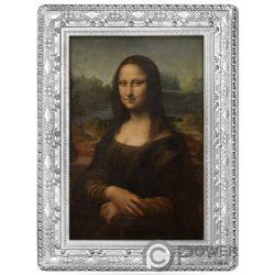 MONA LISA Gioconda Masterpieces of Museum Монета Серебро 10€ Франция 2019