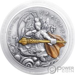 SUN WUKONG Кароль Обезьяна Chinese Gods Mythology 2 Oz Монета Серебро 5$ Niue 2019