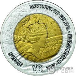 EXPLORATION Tantalio Moneda Plata 5 Cedis Ghana 2017