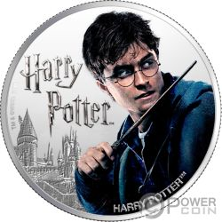 HARRY POTTER Wizarding World 1 Oz Moneda Plata 10$ Fiji 2020