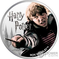 RON WEASLEY Wizarding World 1 Oz Moneda Plata 10$ Fiji 2020