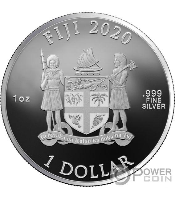 SEVERUS PITON Wizarding World 1 Oz Moneta Argento 10$ Fiji 2020