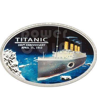 TITANIC 100th Anniversary Original Coal Transatlantic White Star Line Silver Coin 5$ Cook Islands 2012