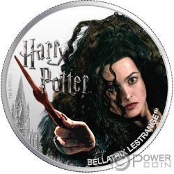 BELLATRIX LESTRANGE Wizarding World 1 Oz Moneda Plata 10$ Fiji 2020