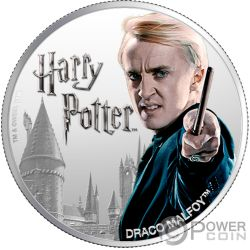 DRACO MALFOY Wizarding World 1 Oz Silver Coin 10$ Fiji 2020