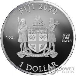 ALBUS DUMBLEDORE Wizarding World 1 Oz Moneta Argento 10$ Fiji 2020