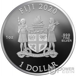 ALBUS DUMBLEDORE Wizarding World 1 Oz Монета Серебро 10$ Фиджи 2020